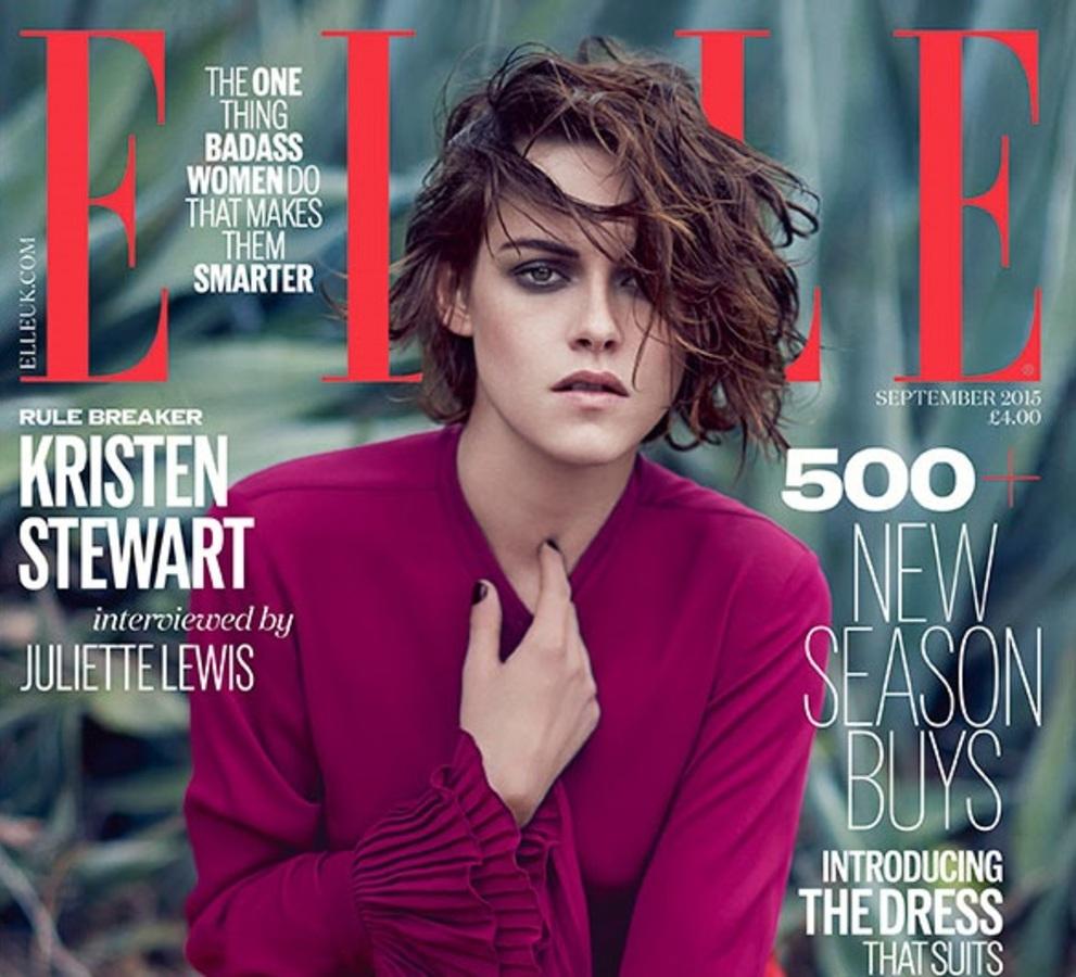 Фото: Кристен Стюарт в британском Elle, сентябрь 2015