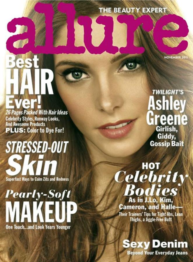 Эшли Грин в журнале Allure. Ноябрь 2011