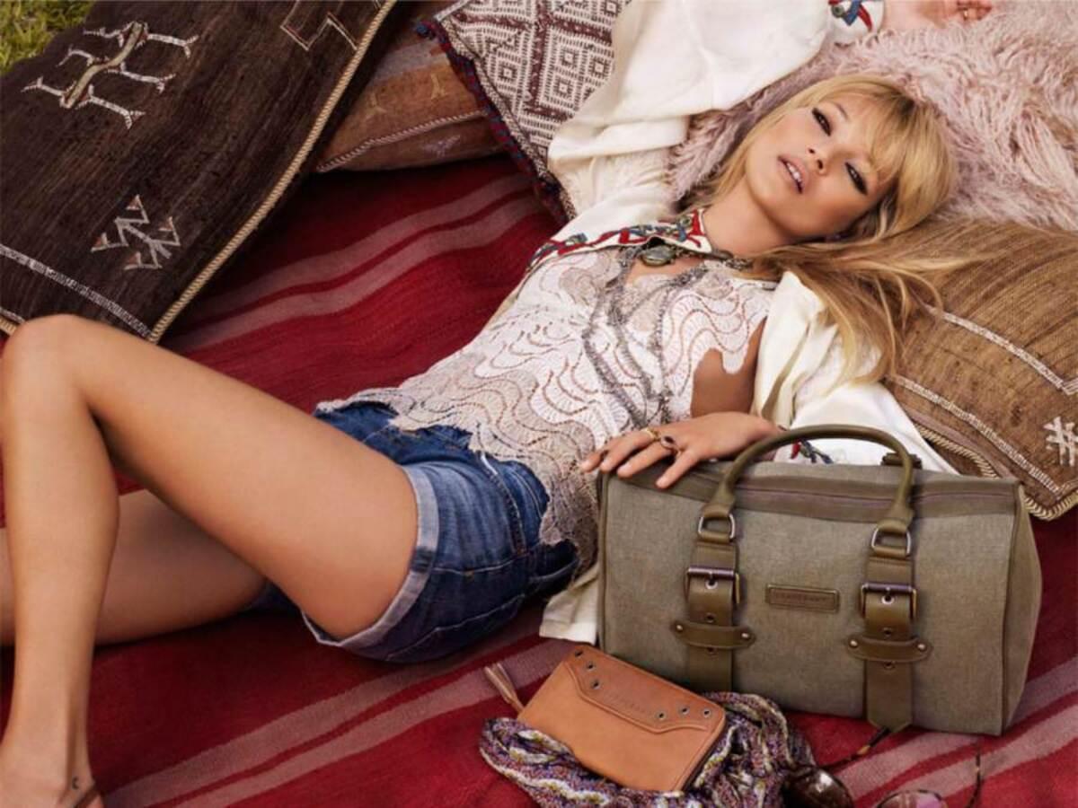 Кейт Мосс для рекламной кампании сумок Longchamp
