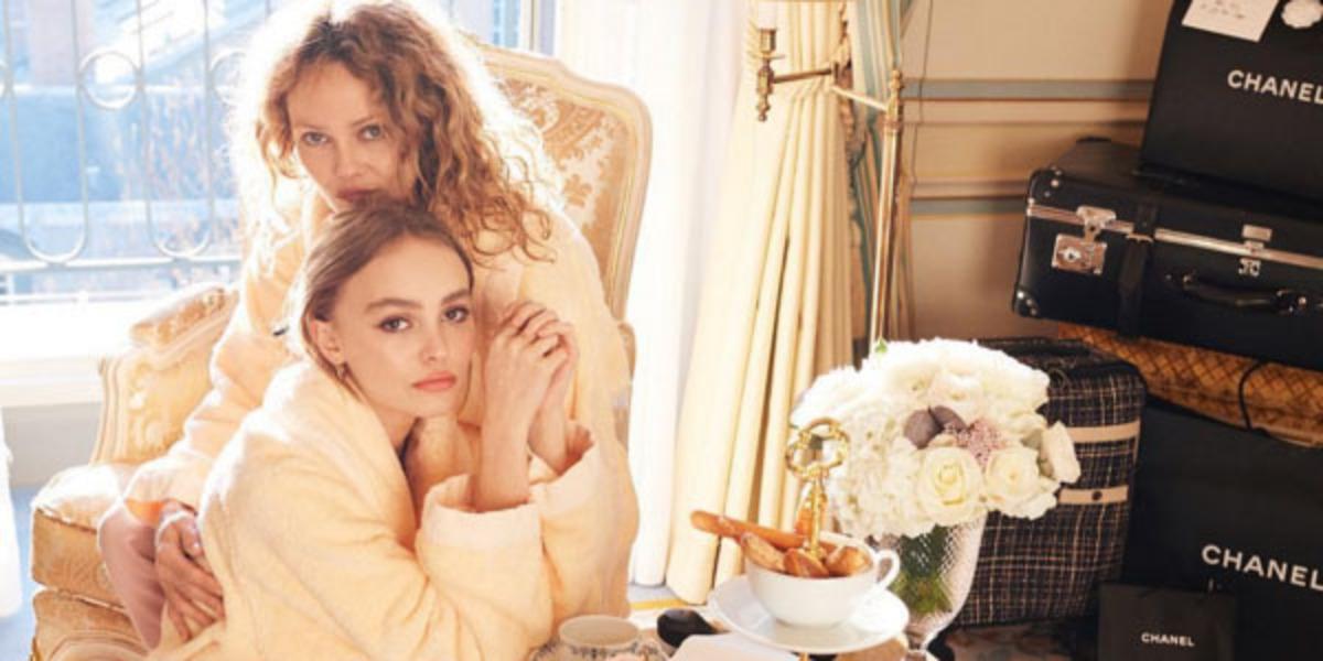 Лили Роуз Депп и Ванесса Паради в фотосете для Our City of Angels