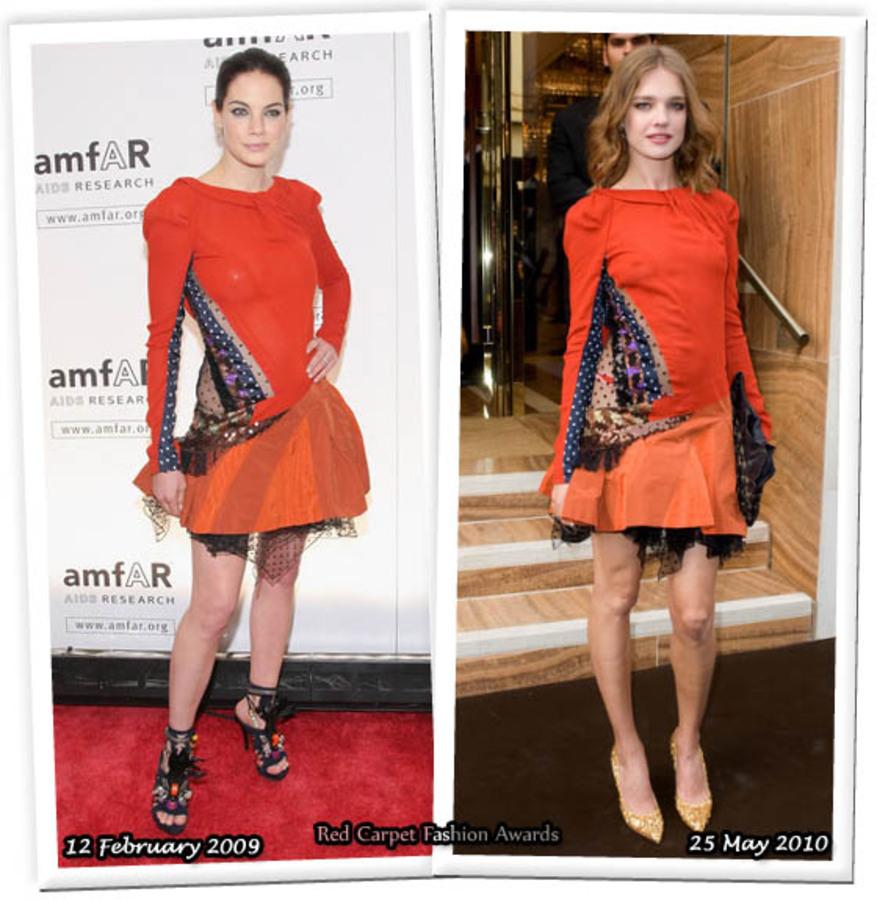 Fashion battle: Мишель Монаган и Наталья Водянова