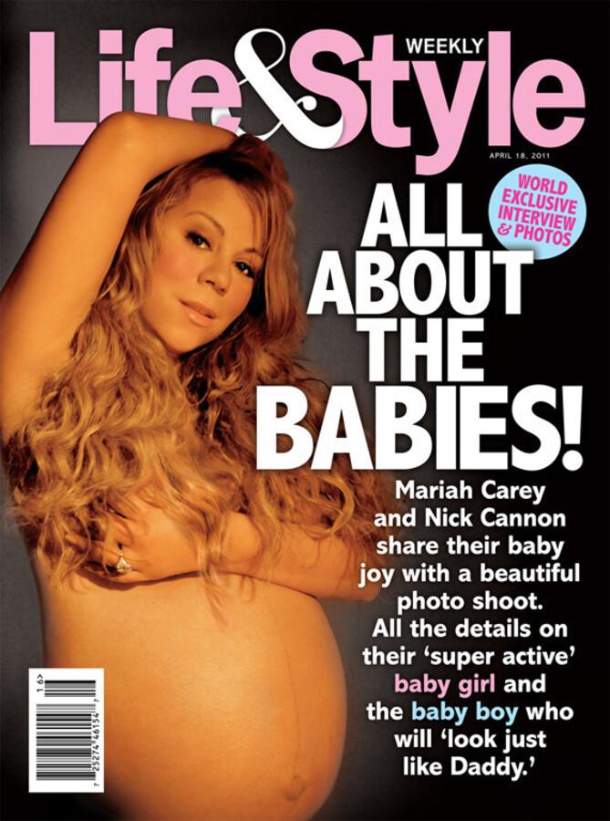 Мэрайя Кэри на обложке журнала Life & Style. Апрель 2011