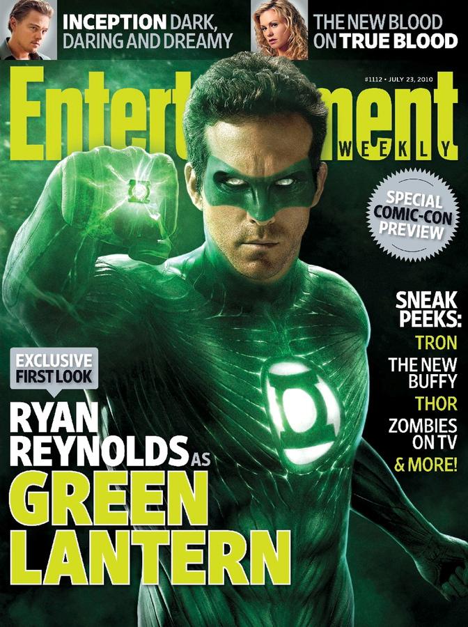 Герой Зеленый фонарь в журнале Entertainment