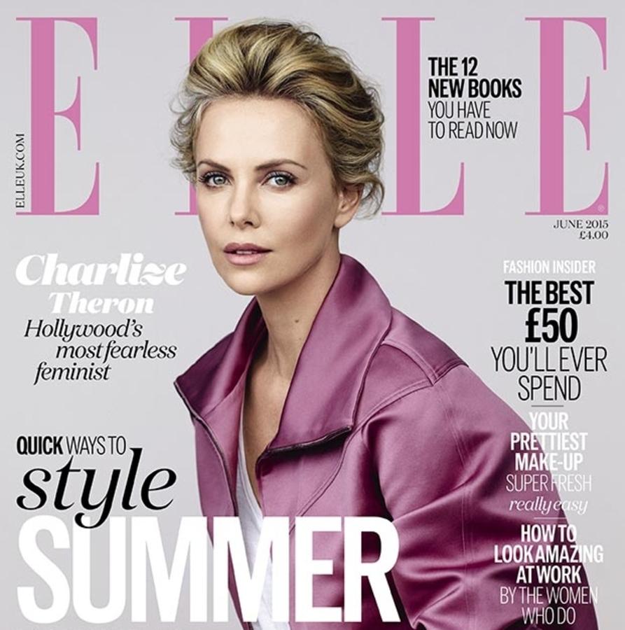 Шарлиз Терон в журнале Elle Великобритания. Июнь 2015
