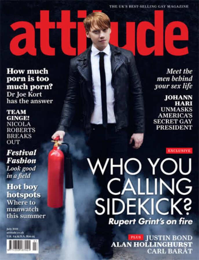 Руперт Гринт в журнале Attitude. Июль 2011