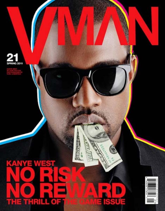 Кани Вест в журнале VMAN. Весна 2011