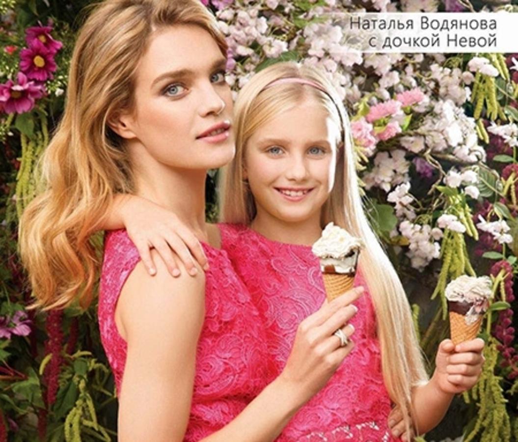 Наталья Водянова снялась в рекламной кампании с 9-летней дочерью Невой