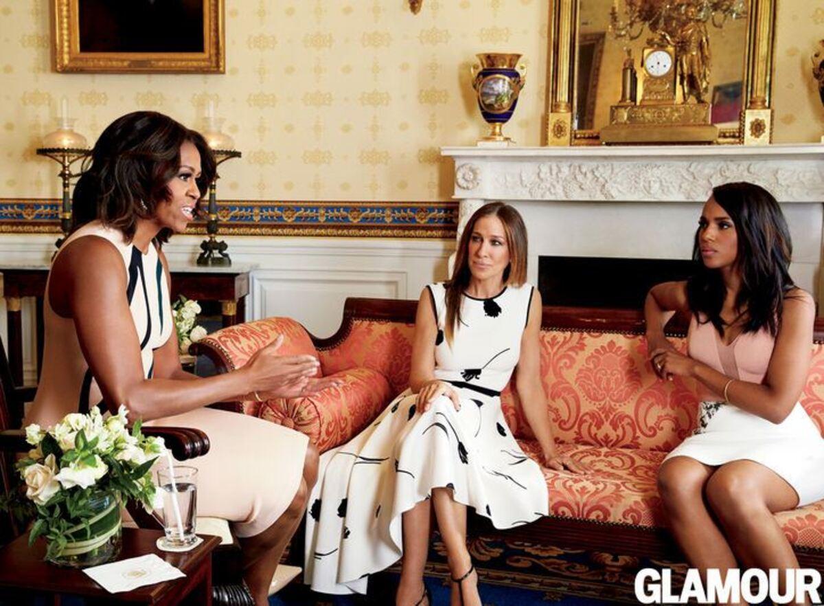 Сара Джессика Паркер, Керри Вашингтон и Мишель Обама в журнале Glamour. Май 2015