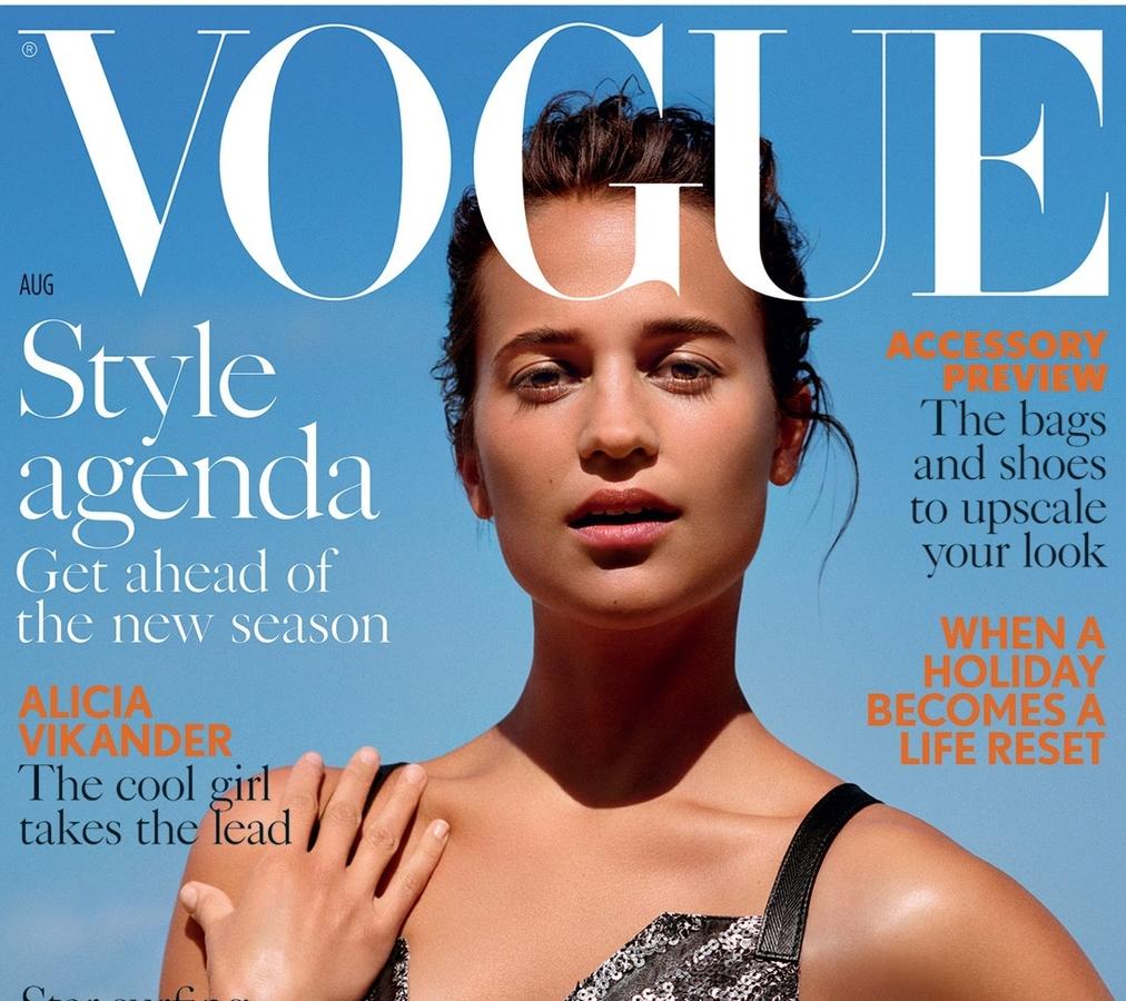 Алисия Викандер в журнале  Vogue Великбритания, август 2016