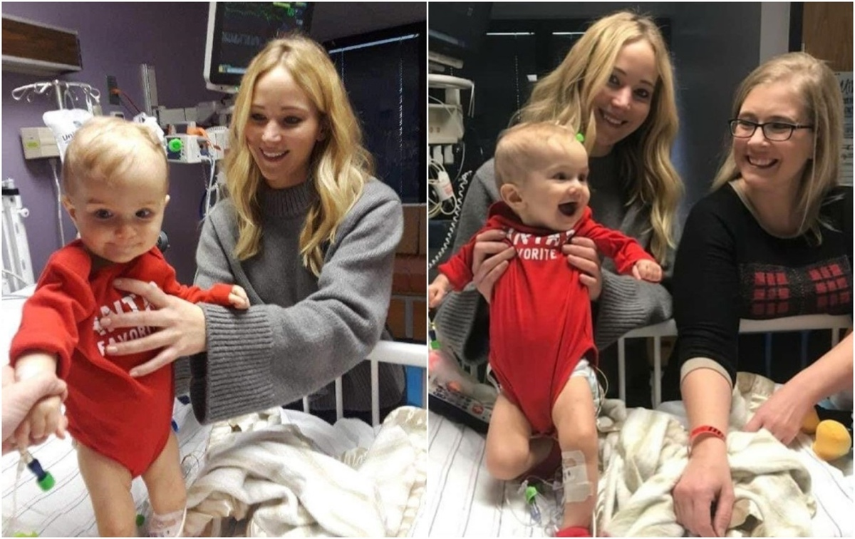 Дженнифер Лоуренс навестила маленьких пациентов детской больницы в Кентукки