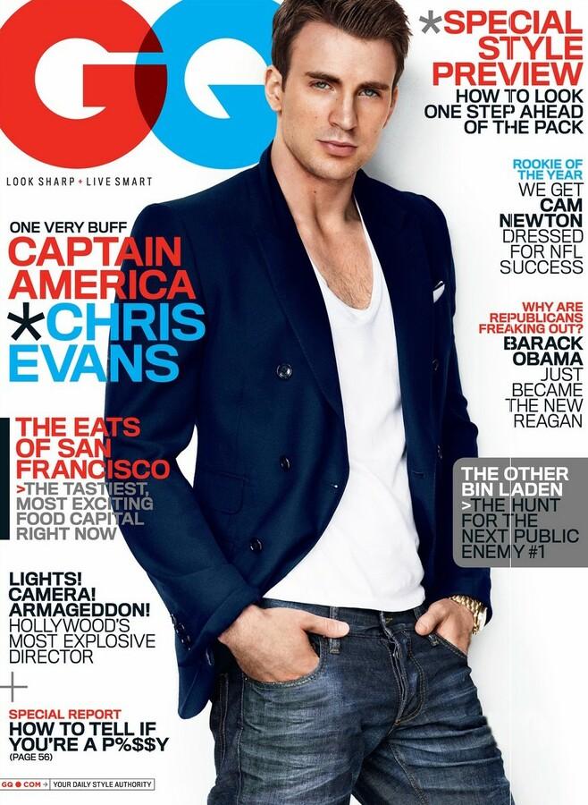 Крис Эванс в журнале GQ. Июль 2011
