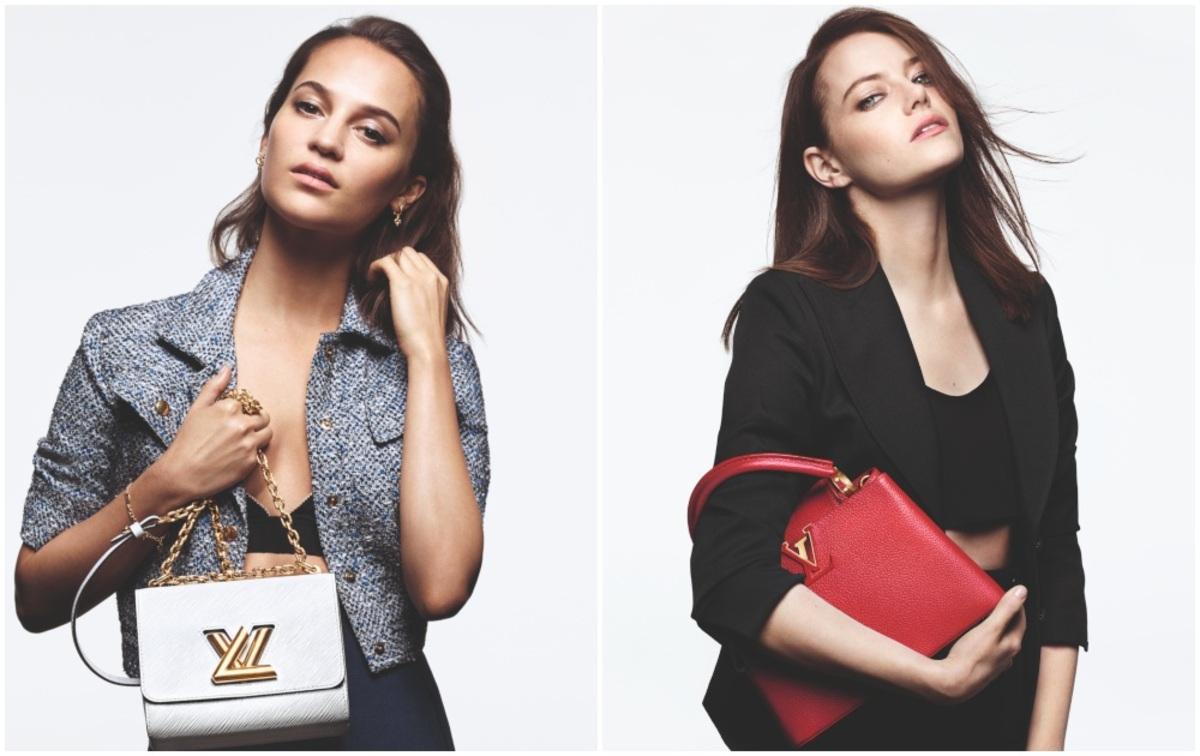 Фото: Эмма Стоун, Алисия Викандер и Леа Сейду в новой рекламной кампании Louis Vuitton