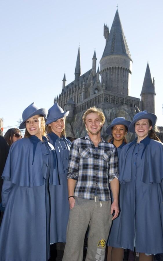 Том Фелтон в парке «Волшебный мир Гарри Поттера»