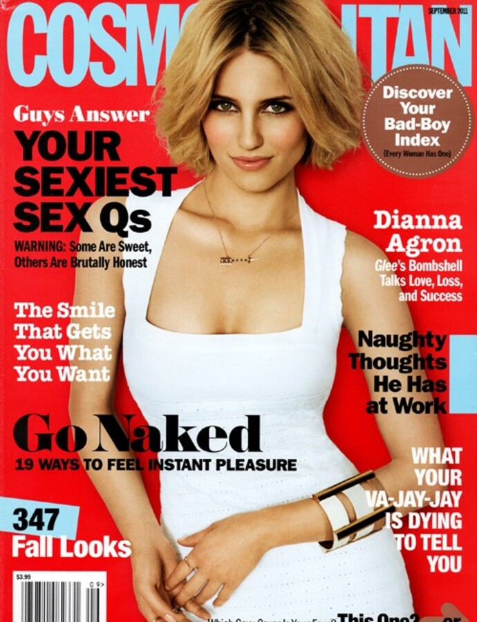 Дианна Агрон в журнале Cosmopolitan. Сентябрь 2011