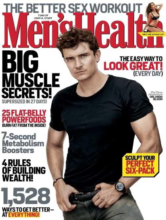 Орландо Блум в журнале Men's Health. Октябрь 2011
