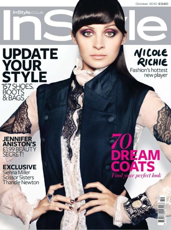 Николь Ричи в журнале Instyle UK. Октябрь 2010