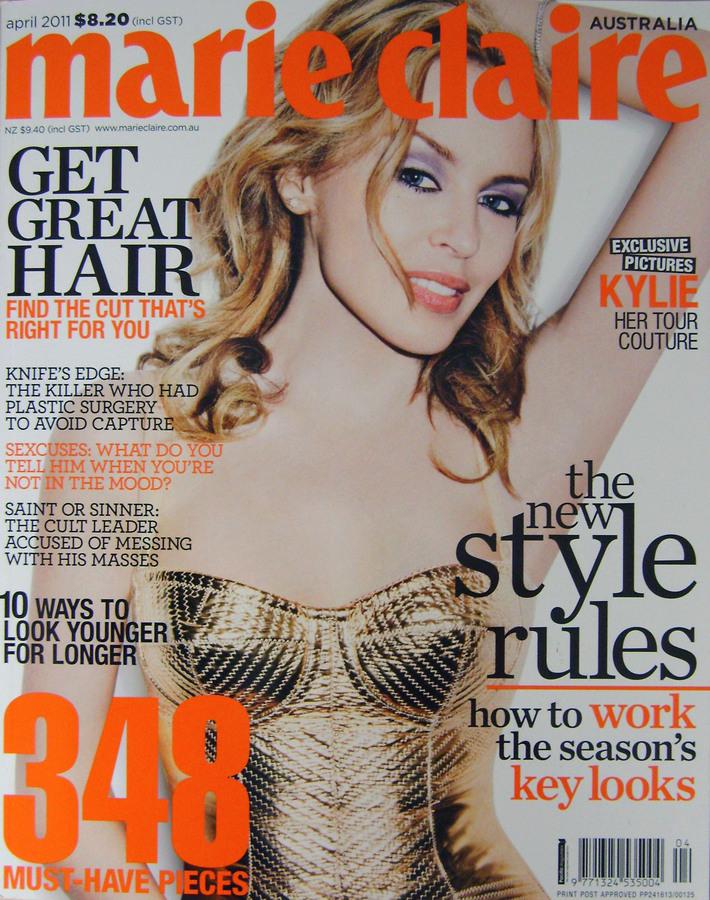 Кайли Миноуг в журнале Marie Clair Австралия. Март 2011
