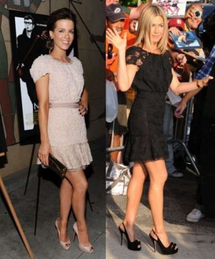 Fashion Battle: Кейт Бекинсэйл и Дженнифер Энистон