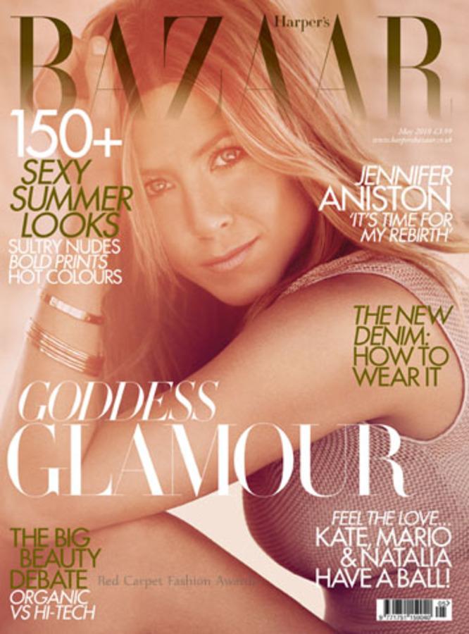 Дженнифер Энистон в журнале Harper's Bazaar UK. Май 2010