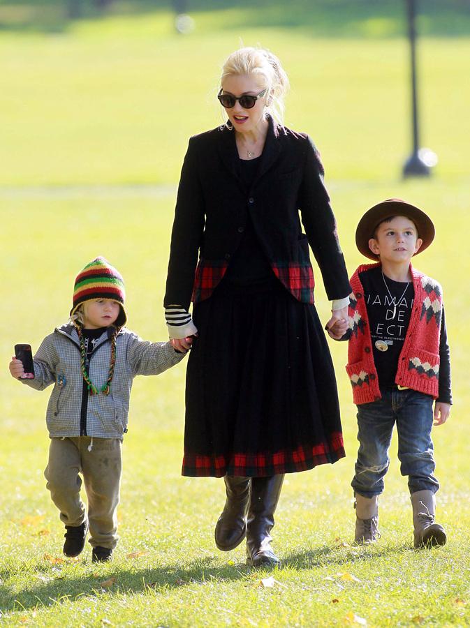 Гвен Стефани с детьми в Лондоне