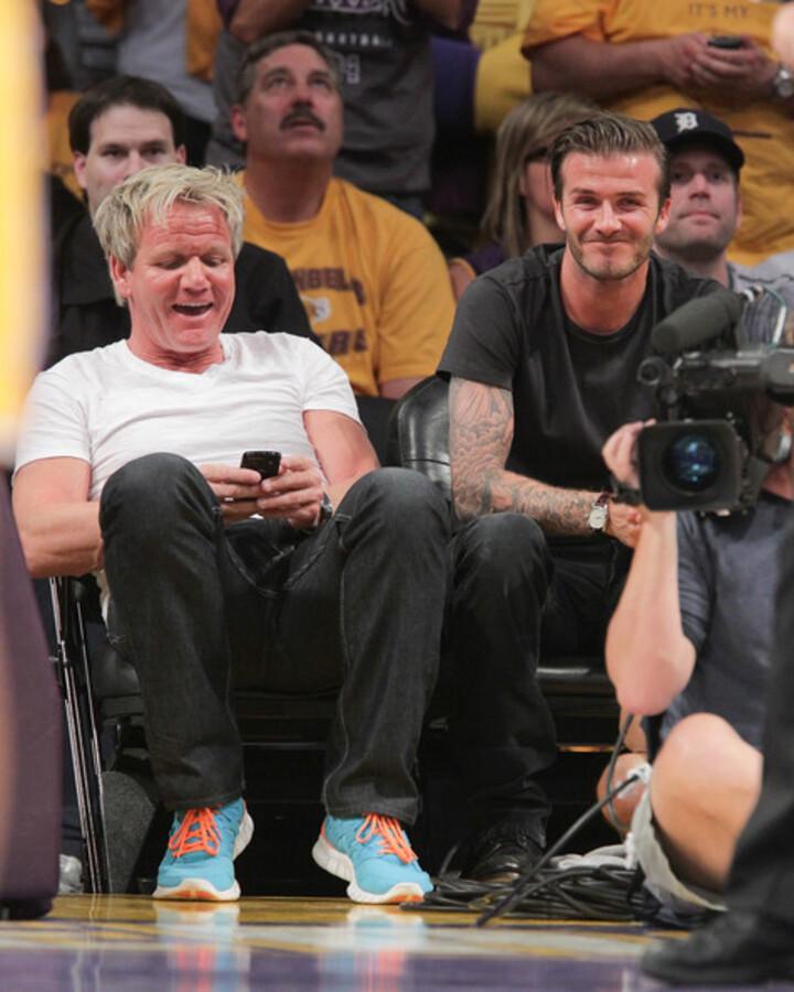 Звезды на игре Dallas Mavericks и Los Angeles Lakers