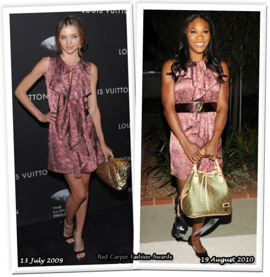 Fashion battle: Миранда Керр и Серена Уильямс