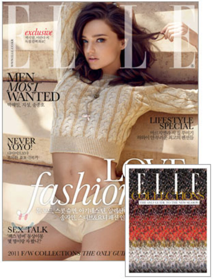 Миранда Керр в журнале Elle. Корея. Август 2011