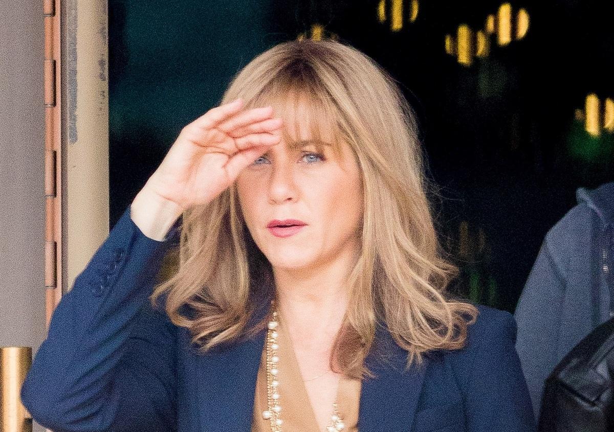 Фото: Дженнифер Энистон радикально преобразилась на съемках нового фильма