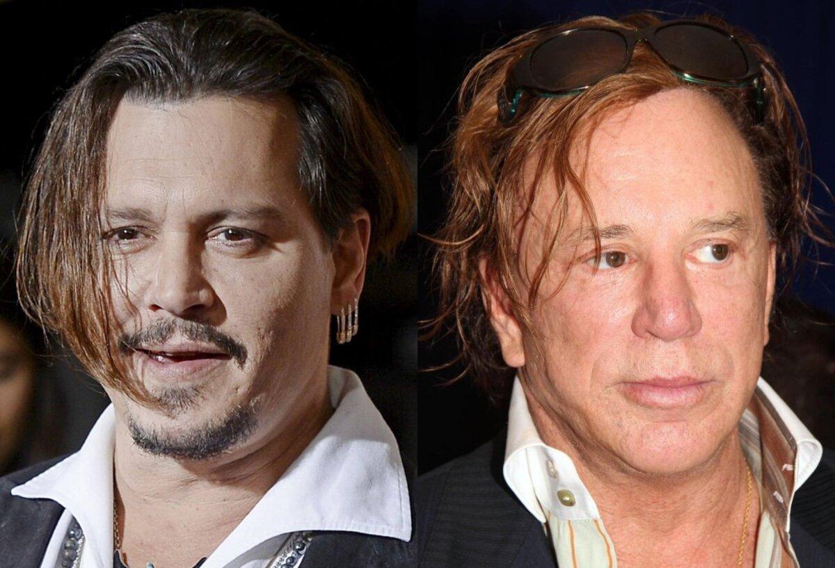 Микки Рурк поддержал Джонни Деппа в скандале с избиением Эмбер Херд