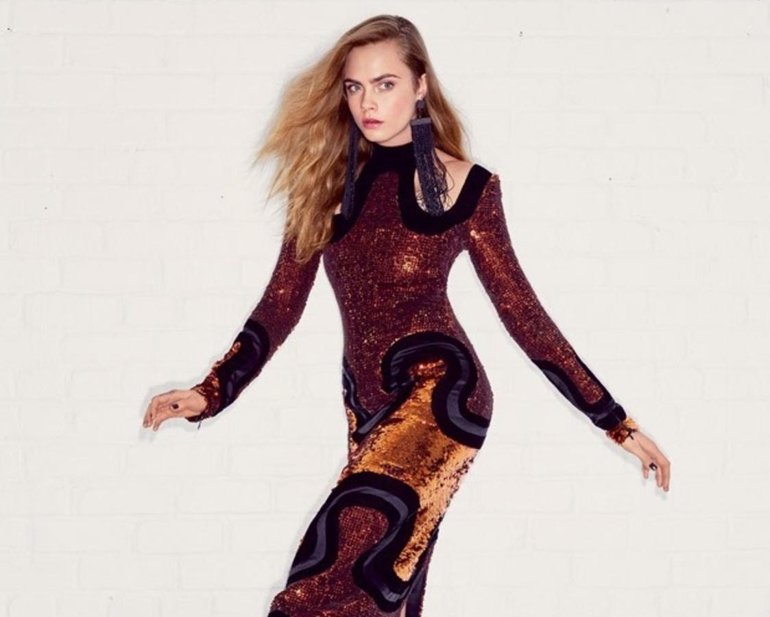 Кара Делевинь в журнале  Vogue. Июль 2015