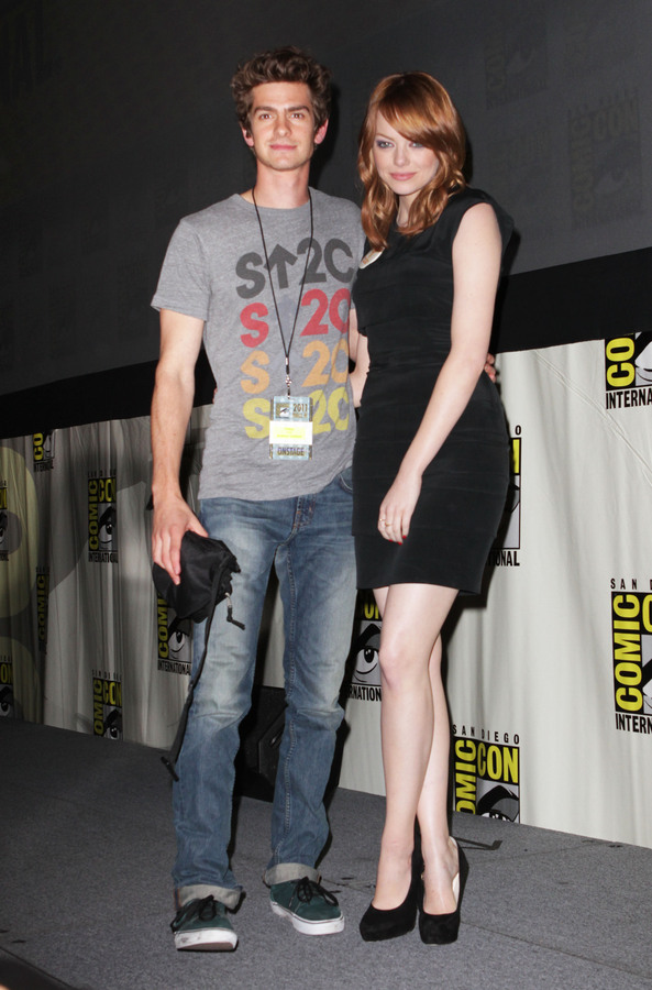 Эндрю Гарфилд и Эмма Стоун на фестивале Comic-Con