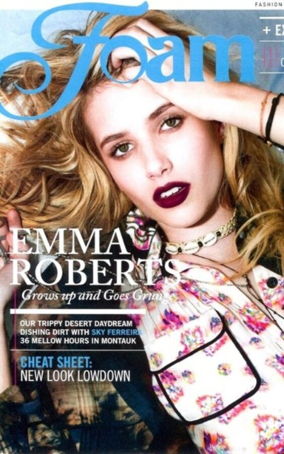Эмма Робертс в журнале Foam. Август/Сентябрь 2010