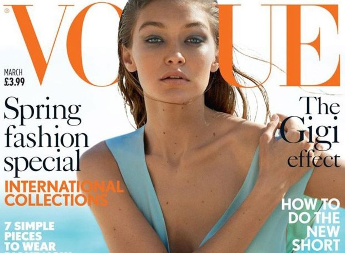 Джиджи Хадид украсила мартовскую обложку британского Vogue