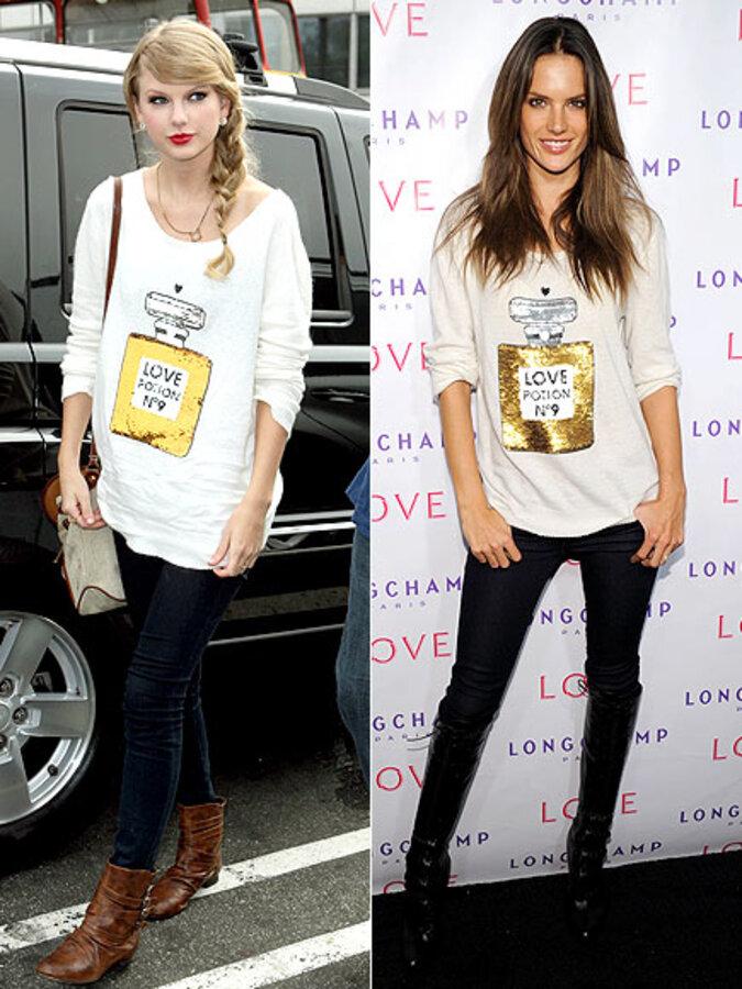 Fashion Battle: Тэйлор Свифт и Алессандра Амбросио