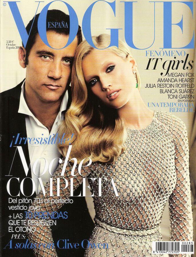 Тони Гаррн, Клайв Оуэн и Меган Фокс для испанского Vogue. Октябрь 2011