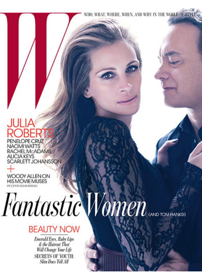 Джулия Робертс и Том Хэнкс в журнале W. Июнь 2011