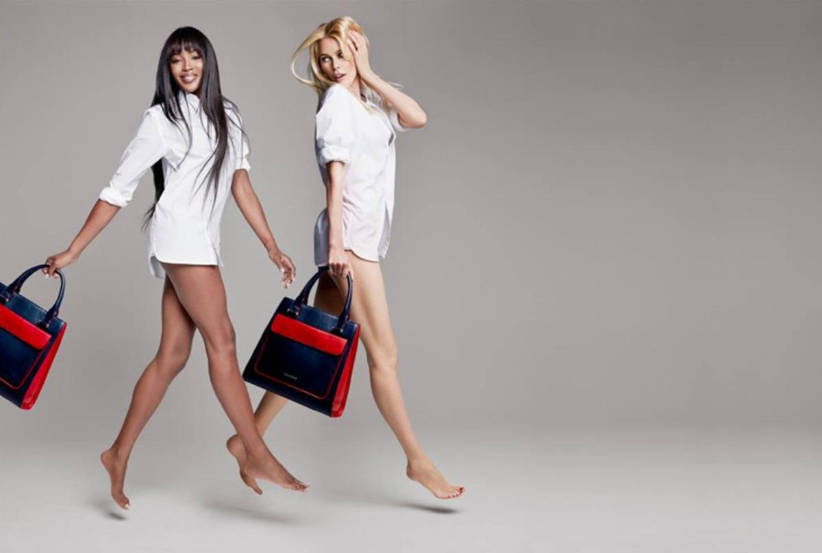 Наоми Кэмпбелл и Клаудиа Шиффер в благотворительной рекламной кампании Tommy Hilfiger