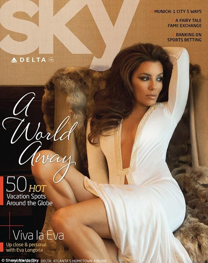 Ева Лонгория в журнале Delta Sky