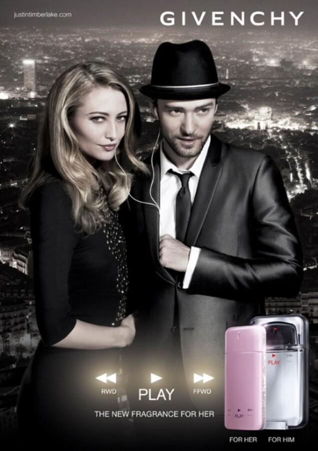 Джастин Тимберлейк в рекламе Givenchy Play