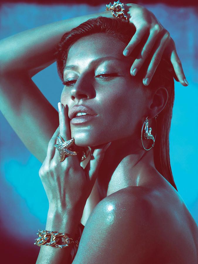 Жизель Бундхен в рекламной кампании Versace. Весна / лето 2012