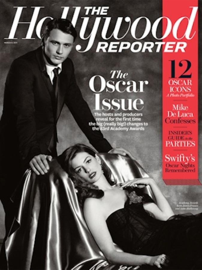 Джеймс Франко и Энн Хэтэуэй на обложке журнала Hollywood Reporter