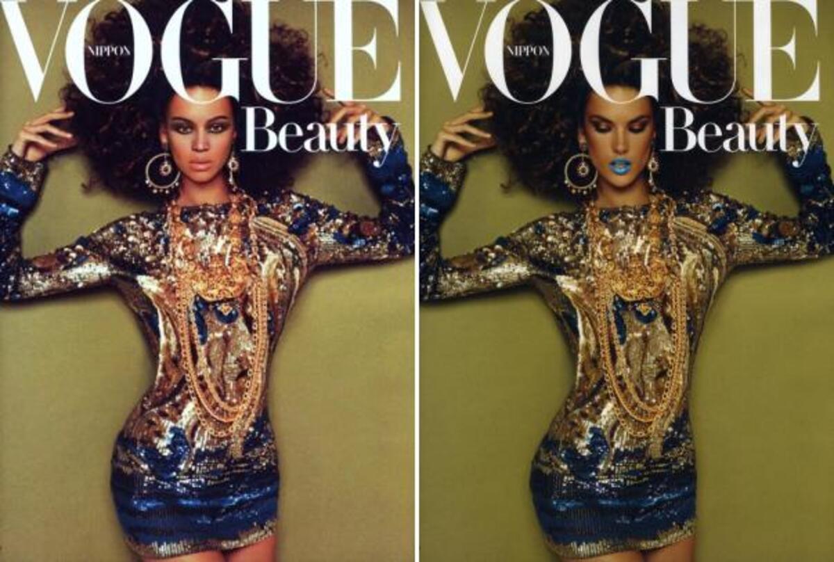 Зачем журнал Vogue в Японии представили к телу Алессандры Амбросио голову Бейонсе?