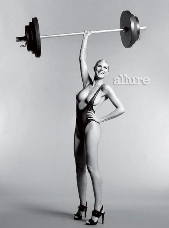 Хайди Клум в журнале Allure. Апрель 2010