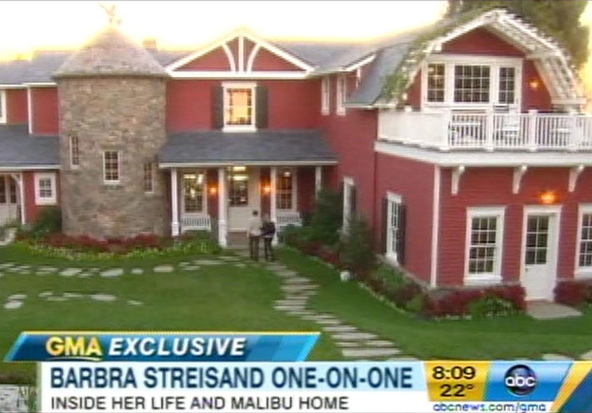Барбара Стрейзанд провела экскурсию по своему дому