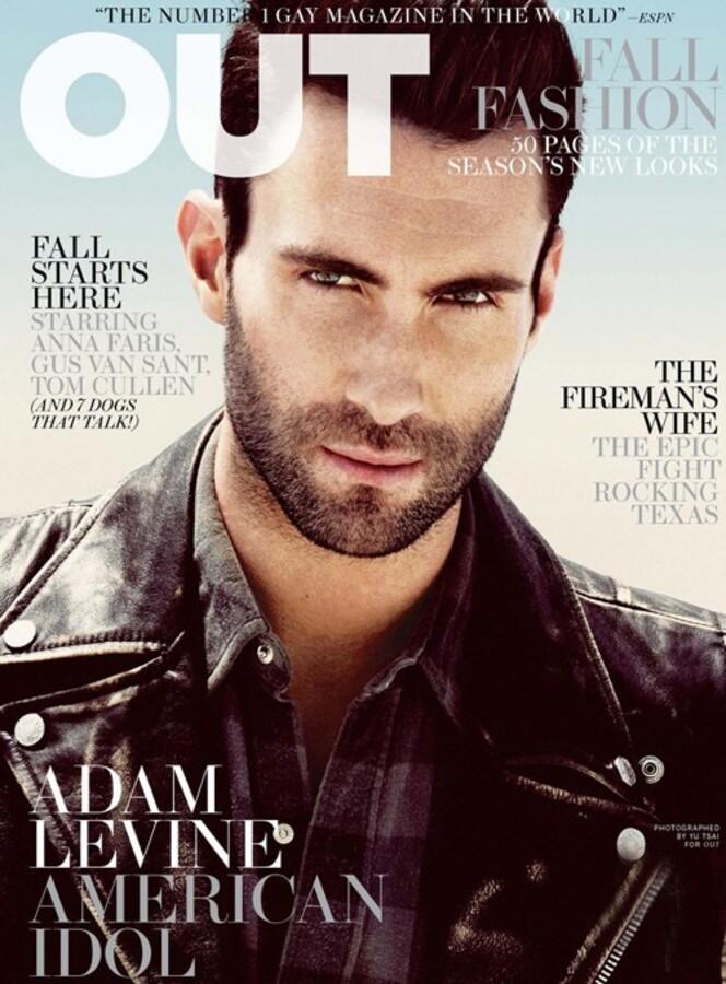 Адам Левин в журнале OUT. Сентябрь 2011