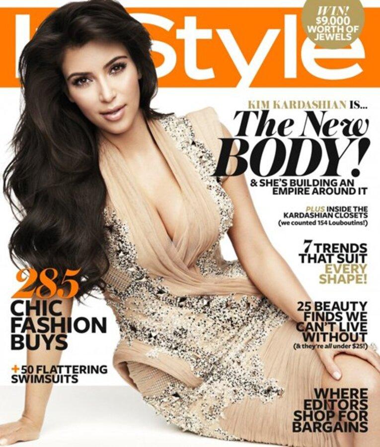 Ким Кардашиан в журнале InStyle. Ноябрь  2011
