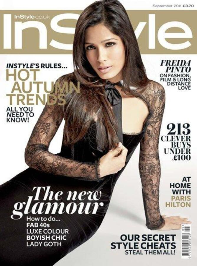 Фрида Пинто в журнале InStyle. Сентябрь 2011