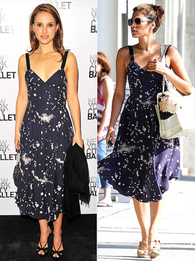 Fashion battle: Натали Портман и Ева Мендес
