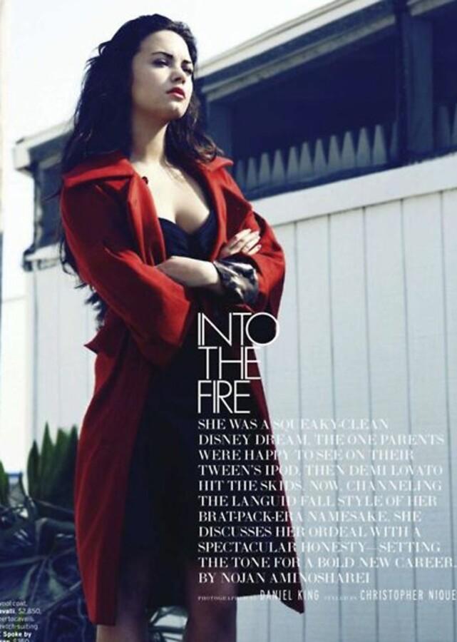 Деми Ловато в журнале Elle. Сентябрь 2011