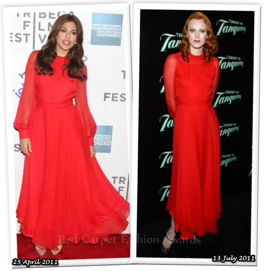 Fashion Battle: Ева Мендес и Карен Элсон